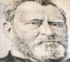 Portrait Of Ulysses S Grant From 50 Dollars Bill Royalty Free Stock Photo