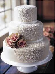 Beautiful Vintage Wedding Cake Idea