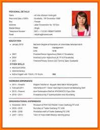 Good Resume Pdf Sample Of Curriculum Vitae For Job Application Vitaegood Cv Examples 2012 Caption