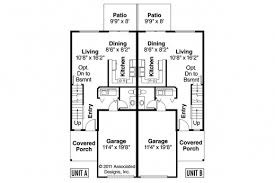 Small Duplex Floor Plans by Best Craftsman House Plans Toliver 60 020 Associated Designs