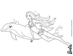 Barbie Mermaid Coloring Pages At