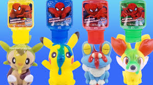 pokemon spiderman bath fingerpaint soap pretend play pool party