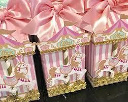 Carousel Party Favor Circus Horse Milk Carton
