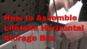 Suncast Horizontal Utility Shed 20 Cu Ft by Lifetime 60088 Horizontal Tan Deck Storage Box Youtube