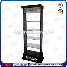 TSD M3002 Black Powder Coating Salon Display Units Shampoo Hair Shelf Metal