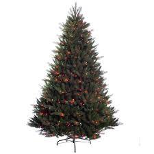 7 Ft Pre Lit Incandescent Douglas Fir Premier Artificial Christmas Tree With 800 UL