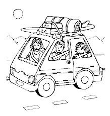 Coloring Pages For Road Trips Family Trip