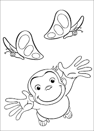 The Cute Adorable Curious George Has Captured Imagination Hearts Of Children All Over World Check Free Printable Coloring Pages