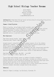 Cover Letter Scenic Sample Resume Biology Teacher Sle Format For