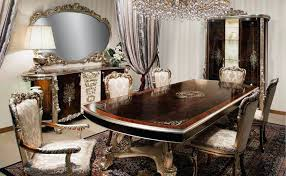 Luxury Dining Table And Chairs Room Furniture Elegant Inspiring End Tables
