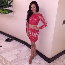 online get cheap two piece lace red homecoming aliexpress com