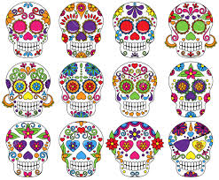 Easy Sugar Skull Day Of by Vector Set Of Day Of The Dead Or Sugar Skulls Royalty Free