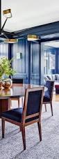 Aarons Dining Room Sets by Dramatic Blue Dining Room Interior Designer Mark Cunningham