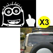 100 Cool Truck Stickers Xotic Tech 3pcs Minion Despicable Me Peeking Bird Finger 6 Die Cut