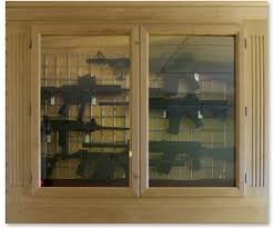 Gun Case Cases Shotgun Wood Cabinet Oak Display