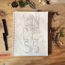 Botanical Inklings The Letterpress Coloring Book Printed On Watercolor Paper