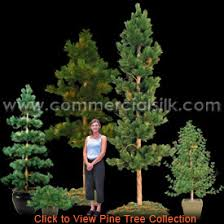 Small Artificial Pine Trees And Decorative