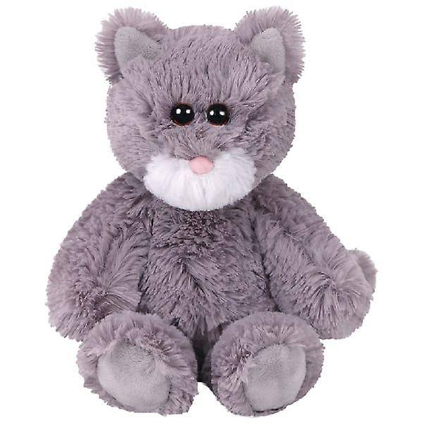 2017 Ty Attic Treasures Kit The Cat Soft Toy - Gray and White, 8""