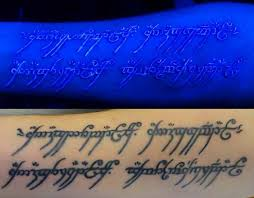 Glows Under Black Light White Ink Tattoos