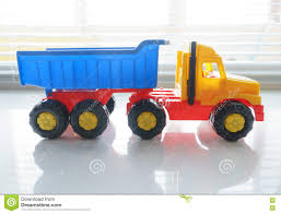 Toy Dump Truck Close Up Stock Photo. Image Of Hydraulic - 82146056