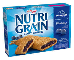 Amazon Kelloggs Nutri Grain Cereal Breakfast Bars Blueberry 8 Count Box Pack Of 6