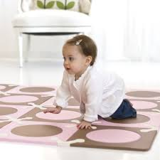 amazon com skip hop playspot floor mat light pink brown 20