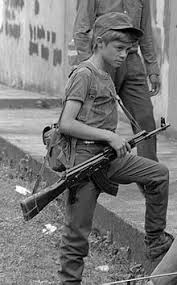 Rebel Salvadoran Soldier Boy Combatant In Perquin El Salvador 1990 During The Civil War