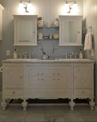 a bathroom vanity white and antique with white vanity cabinet