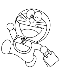 Doraemon Goes Shopping Coloring Page