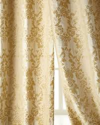 Gold And White Blackout Curtains by Luxury Curtains U0026 Curtain Hardware At Neiman Marcus