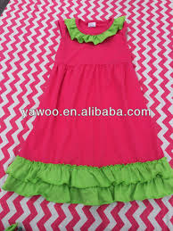 Cotton Ruffle Dresses For Baby Girl Long Dress Designs Teenage Girls Summer Neck