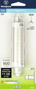 9r7s led cl 27 9 watt ended led light bulb 2700k ww rsc