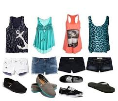 Super Cute Summer Outfits With Shorts And Tank Tops