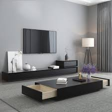 tv stand unit modern living room coffee centro table home