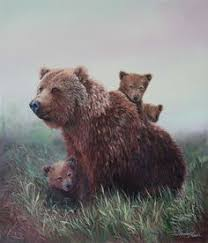 Family Outing C Shirley Reade A Mother Bear Will Remain With Her Young For 1 2 To 3 Years
