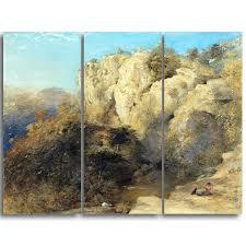 100 Rocky Landscape DESIGN ART Samuel Palmer In Wales Canvas Art