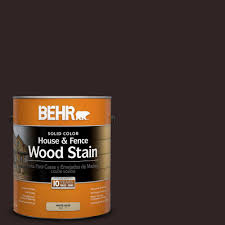 Behr Premium Deck Stain Solid by Behr 1 Gal Sc 104 Cordovan Brown Solid Color House And Fence