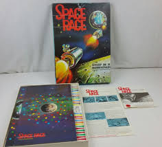 Vintage SPACE RACE Board Game Battle For The Moon Minerals