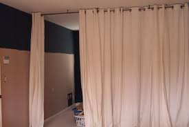 Ceiling Mount Curtain Track by Curtain Room Divider U2013 For Temporary Door Solution Diy Home