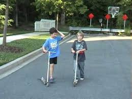 Kids On Razor Scooters