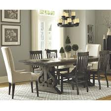 Bellamy 7 Piece Dining Table Set In Peppercorn