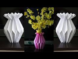 How To Make A Paper Flower Vase DIY Craft Home Decoration Ideas