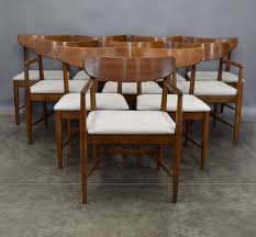 american of martinsville dania walnut dining chairs sold