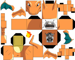 Click To See Printable Version Of Charizard Paper Toy Craft