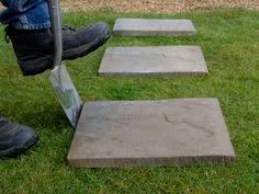 how to lay a garden patio how to lay stepping stones creating a simple path using paving
