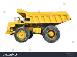 100 Big Yellow Truck Mining On White Stock Photo Edit Now 675666124