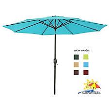9 Ft Patio Umbrellas With Tilt by Amazon Com Cobana 9 Ft Aluminum Patio Umbrella Outdoor Table