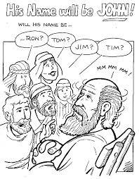 Coloring Zechariah And Baby John