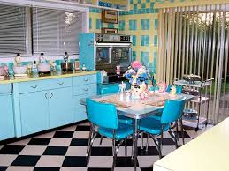 Loris Pink Blue And Yellow Retro Kitchen A Whole Lot Of Lovin Fun Tables1950s