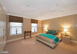 türkis und gold schlafzimmer stockfoto und mehr bilder beige